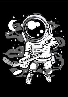 Astronaute de joueur de hockey