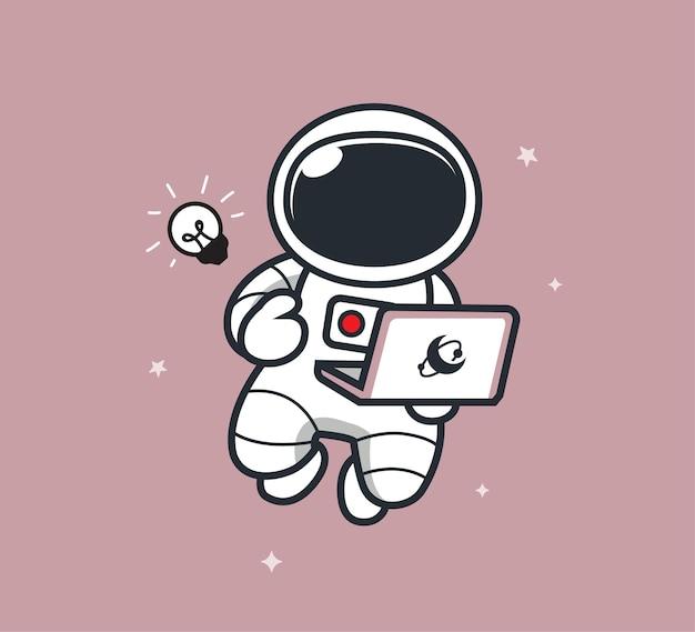 Astronaute en ligne dans l'espace