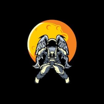 Astronaute sur la lune