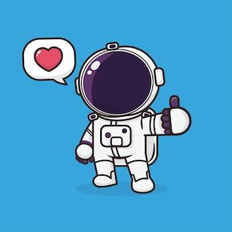 Astronaute mignon kawaii