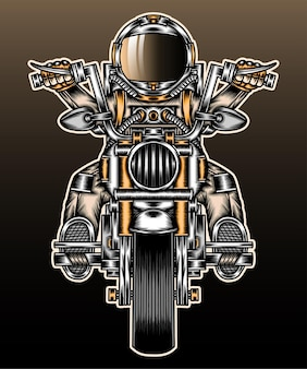 L'astronaute à moto.