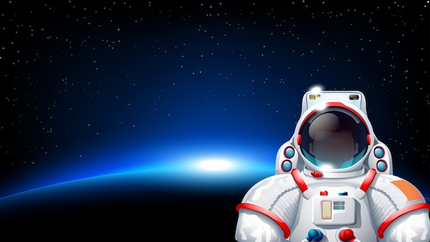 Astronaute planète soleil