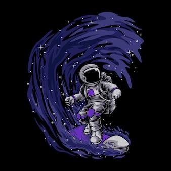 Astronaute surfant