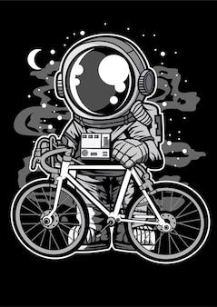 Astronaute à vélo