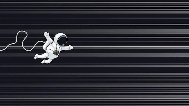 Astronaute, voler, lumière, vitesse