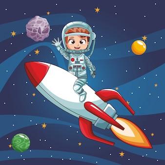 Astronaute, voler, vaisseau spatial