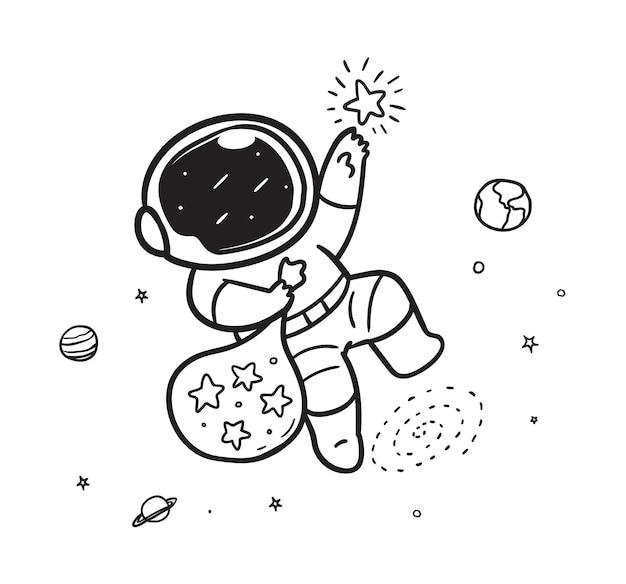 Les astronautes attrapent des étoiles dans l'espace