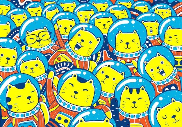 Astronautes de chats.
