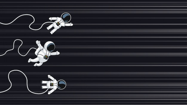 Les astronautes en course à la vitesse de la lumière
