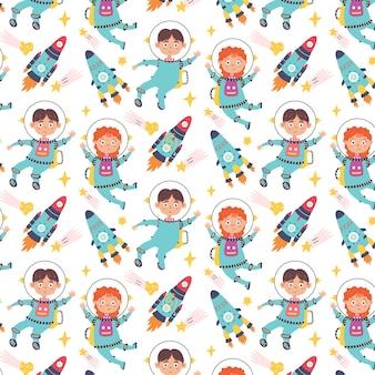 Astronautes de fusées de modèle sans couture