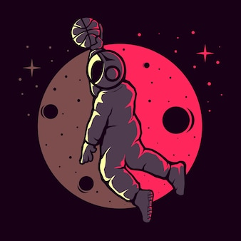 Astronautes jouant au basket drôle