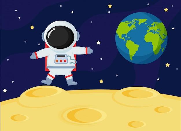 Les astronautes sur la lune.
