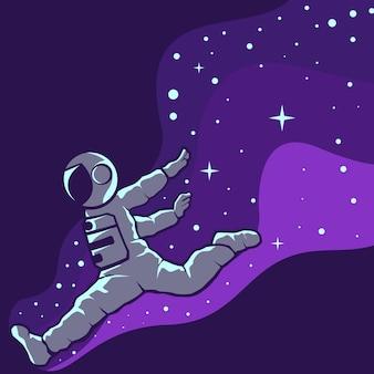 Astronautes s'amusant illustration