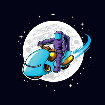 Astrorider dans l'illustration de l'espace