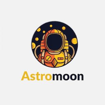 Astrounot flat logo minimalis