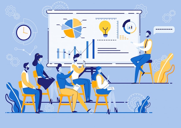 Atelier de marketing d'entreprise, les gens à la réunion.