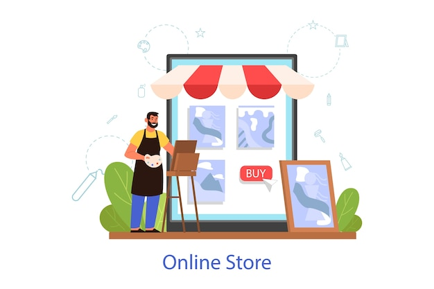 Ateliers créatifs et boutique en ligne pour artiste
