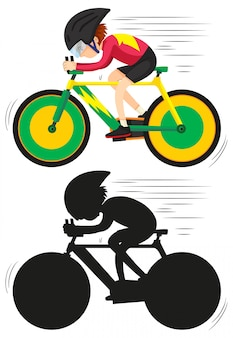 Un athlète cycliste