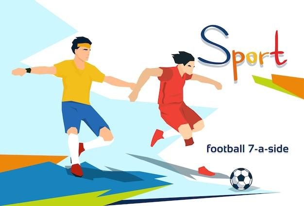 Un athlète handicapé joue au football dans une compétition sportive