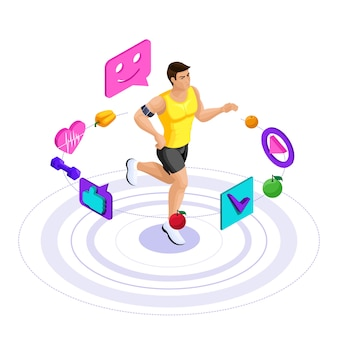 Athlète masculin, beau corps sportif, trains, course à pied, mode de vie sain. alimentation saine, régime hypocalorique