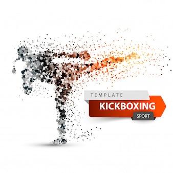 Un athlète masculin donne un coup de pied