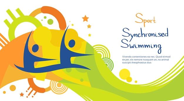 Athlète de natation synchronisée