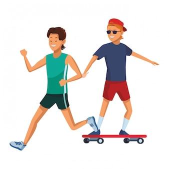 Athlète et skateur