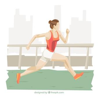 Athletic femme en cours d'exécution