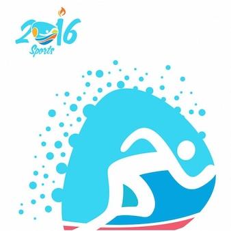 Athlétisme rio jeux olympiques icon