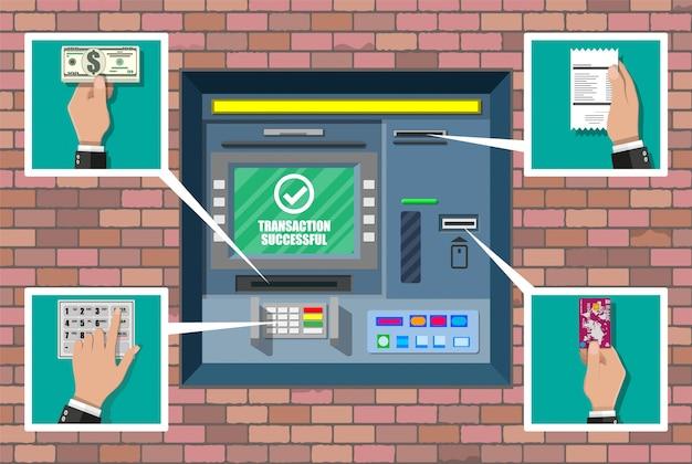 Atm bancaire. guichet automatique.
