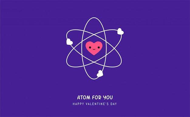 L'atome d'amour. illustration vectorielle
