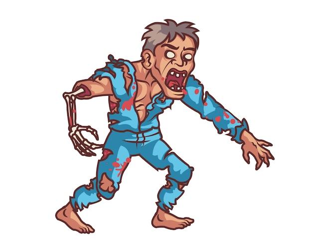 Attaque féroce de zombies dévorant le cerveau