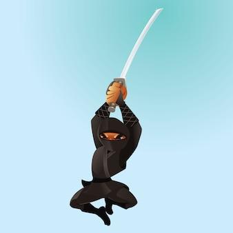 Attaquer ninja noir