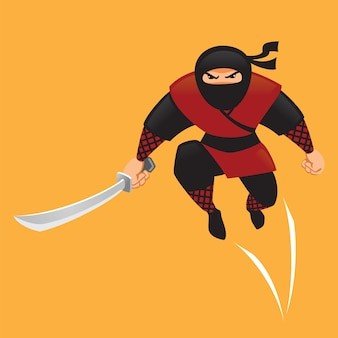 Attaquer ninja rouge