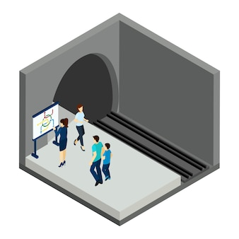 En attente de l'illustration du train souterrain