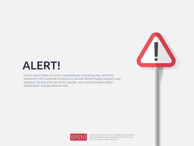 Attention avertissement alerte signe bannière