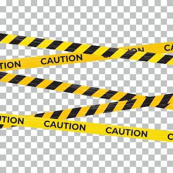 Attention bande d'avertissement