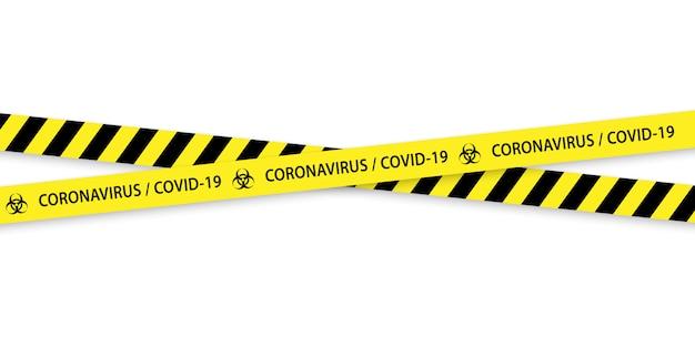 Attention bordures rayées noir et jaune à risque biologique.