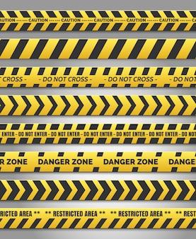 Attention, ensemble de ruban jaune