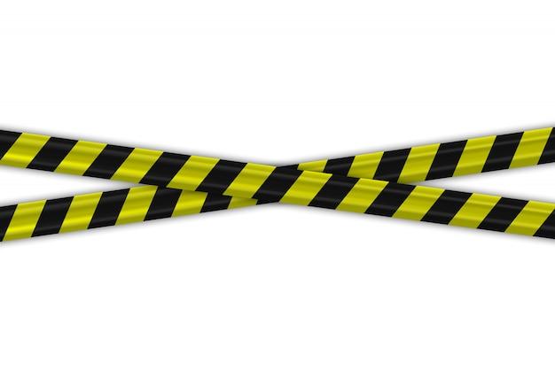 Attention les frontières rayées noires et jaunes de la police
