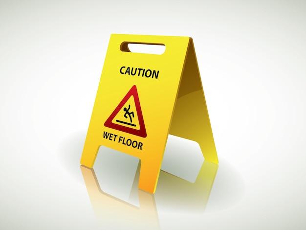 Attention - panneau de sol humide