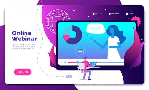 Atterrissage du webinaire. webinaires en ligne conférence séminaire conférencier web consultation webcast e-meeting
