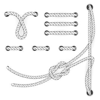 Attestés points et boucles de corde de document - suture de classement de fichier