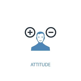 Attitude concept 2 icône de couleur. illustration de l'élément bleu simple. conception de symbole de concept d'attitude. peut être utilisé pour l'interface utilisateur/ux web et mobile