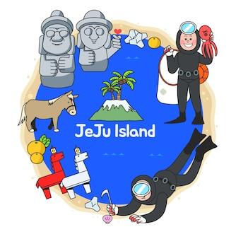 Attractions de jeju islnad en corée du sud