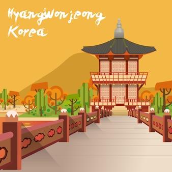 Attractions touristiques coréennes: pavillon hyangwonjeong