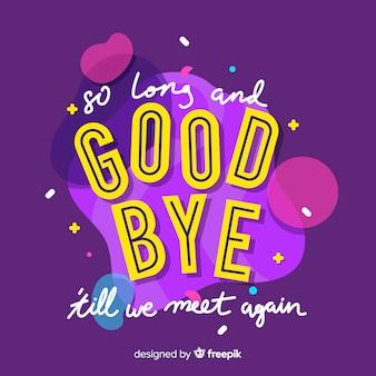 Au revoir lettrage de fond
