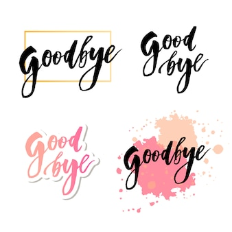 Au revoir lettrage