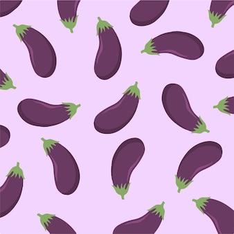 Aubergine motif fond légume illustration vectorielle