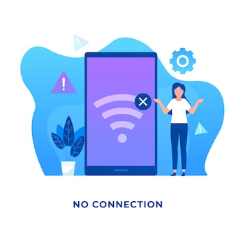 Aucun concept d'illustration de connexion pour les sites web